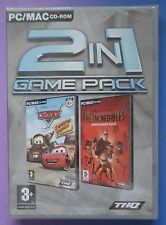 DISNEY CARS RADIATOR SPRINGS + INCREDIBLES DANGER CALLS PC MAC CD-ROM 2in1 GAMES