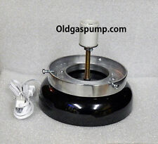 Gas Pump Globe Black Lighted Lamp Base GD-103B Free S&H To Lower 48 States