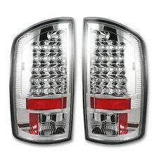 RECON 264179CL Dodge RAM 94-16 Clear-Red Tail Lights LED