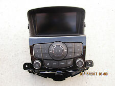11 CHEVY CRUZE LT CD PLAYER RADIO CONTROL FACE PLATE BACK UP CAMERA LCD DISPLAY