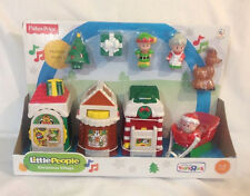 Fisher Price Little People Christmas Village Town 2013 Santa Elf Tree Mrs Deer