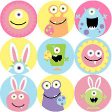 144 Monster Easter 30mm Children's Reward Stickers for Teachers, Party Bags
