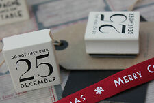 East of India 25 December wooden rubber stamp -  Christmas DIY tags cards craft