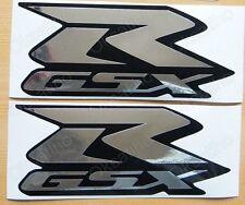 SUZUKI GSXR METALLIC CHROME FAIRING DECALS STICKERS TANK BIKE MOTORCYCLE GSX-R