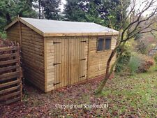 14x10 19mm Apex Extra Height Tanalised Shed/Workshop