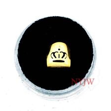 NEW 14K PLATED SINGLE TOOTH CAP TEETH CROWN GRILLZ SG106M