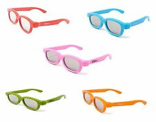 Mixed Pack of 5 pairs of Children's Passive 3D Glasses LG Toshiba Cinemas LG