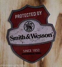 "Oldschool Sticker "" Smith & Wesson  ""  Aufkleber / Hot Rod US Car - Ratrod V8"