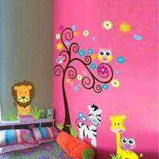 DIY Animal Owl Zebra Lion Tree Wall Stickers Home Decals Decor Mural Decorative