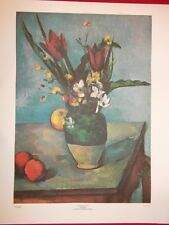 Paul Cezanne - THE VASE OF TULIPS 1890-1892 Litho