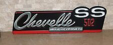 CHEVROLET CHEVELLE SS 502 3D SIGN NASCAR Automobile Chevy Drag Car Mobil Texaco