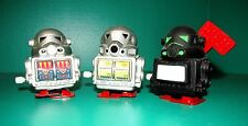 SOFT VINYL WALKING WIND-UP ROBOTS, LOT OF THREE, LIMITED EDITION