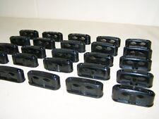 10 Antique double Serre-câble Taille S Bakélite pour Interrupteur Prise