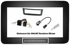 Radioblende Adapter in SMART Roadster BR452 Einbaurahmen für Autoradio Anthrazit
