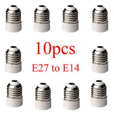 New 10pcs E27 to E14 Base LED Light Lamp Bulb Adapter Converter Screw Socket
