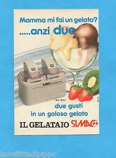 TOP989-PUBBLICITA'/ADVERTISING-1989- SIMAC - IL GELATAIO SIMAC