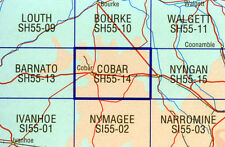 Cobar SH55-14   1:250,000  topographic map brand new latest edition