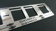 2X CHEVROLET EUROPEAN LICENSE NUMBER PLATE SURROUND FRAME HOLDER.