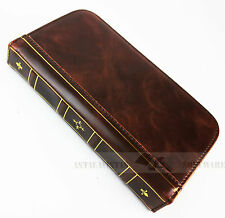 For Samsung Galaxy S3 GT-I9300 Vintage Old Retro Book Antique Wallet Case Cover