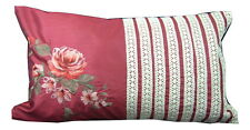 4 x Red Floral Boudoir Filled Cushions (30x50cm)