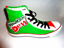 CONVERSE All Star Mountain Dew Pepsi Hand Painted Mens 9 Womens 11 Shoes