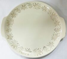"""French saxon china 11"""" plater with 22kt gold trim of leafs vintage"""