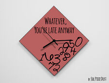 Whatever, you're late anyway / Diamond Marsala - Wall Clock