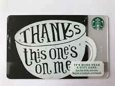 STARBUCKS Gift Card / Geschenkkarte 'THANKs this one's on me' USA 2015 - NEW