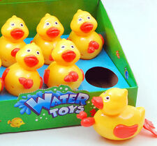 New pull cord / string yellow duck duckies water bath toys Toddlers kids 3+