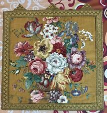 Antique print French English Design Aubusson Flower Tapestry 54 By 58 Cm