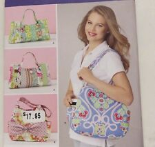 Simplicity Sweet Pea Tote Bag Hobo Purse 2 Styles Sewing Pattern 1599 NEW Uncut