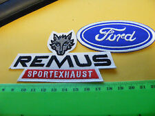 FORD cars & Remus Sport Exhaust...lot of  2 iron-on  Embroidered Patches.