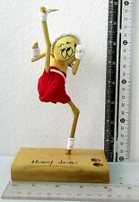 FUNNY Wooden Muay Thai Boxing Figures Pen & Pencil Holder 100% HANDMADE 7 Inch