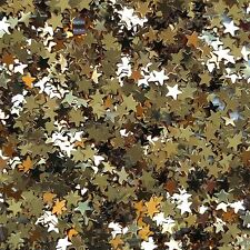 "Gold Star Sequin 6mm (1/4"") Confetti Glitter Metallic No hole Costume Craft"
