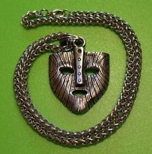 Large Mask of Loki Viking Pewter Pendant Necklace on chain  - Thor - Norse God