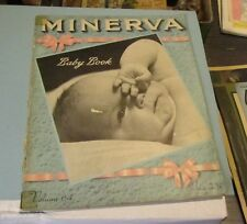 1942 Minerva Yarn Baby Book Magazine Knitting Crochet Patterns Children Vintage