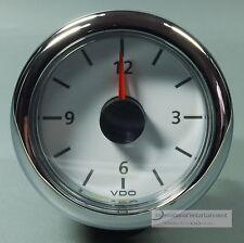 VDO QUARZUHR UHR  -  CLOCK   MARINE  12V  ZIFFERBLATT WEISS CHROMRING abgerundet