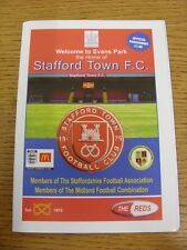 22/03/2014 Stafford Town v Bromsgrove Sporting  . Thanks for viewing our item, i
