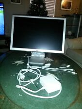 "Apple 20"" Cinema LCD Monitor 2-Port USB Hub DVI A1081 + 65W Power Adapter A1096"