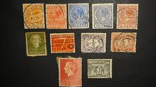 ELEVEN 11 ANTIQUE OLD NEDERLAND POSTAGE POST STAMPS