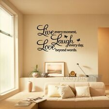 PVC Removable LIVE LAUGH LOVE Letters Room Art Mural DIY Wall Sticker Decal JT11