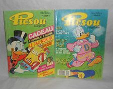 Lot de 2 PICSOU Magazine de 1985 & 1987 n°165 & 184  Disney