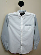 Nautica Bright White Colorblocked Oxford Shirt - Size Large