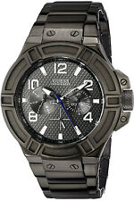GUESS W0218G1,Men Multi-function,NEW WITH TAG AND GUESS BOX,SCREW CROWN,100m WR