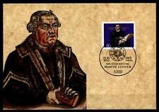500.Geburtstag von Reformator Martin Luther. Maximumkarte(1). BRD 1983