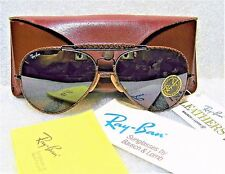 "RAY-BAN *NOS VINTAGE B&L AVIATOR ""LEATHERS"" *TGM DRIVING GENERAL *NEW SUNGLASSES"