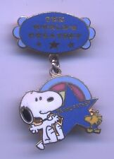 VINTAGE Peanuts SNOOPY World's Greatest GRANDFATHER Enamel Aviva PIN