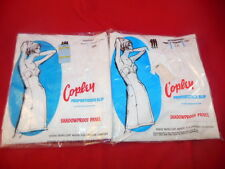 1W Pair Of Vintage COPLEY Proportioned Ladies SLIP Slips In Original Packages