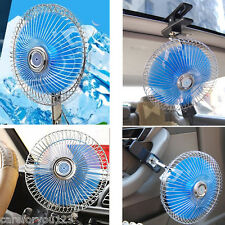 12V Powered Portable Auto Vehicle Car Fan Oscillating Cooling with Clip B