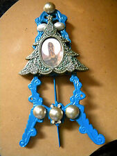 ARTIST HAND CRAFTED AND PAINTED METAL MERMAID CHRISTMAS DECORATION